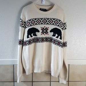 American Living beige and black winter sweater